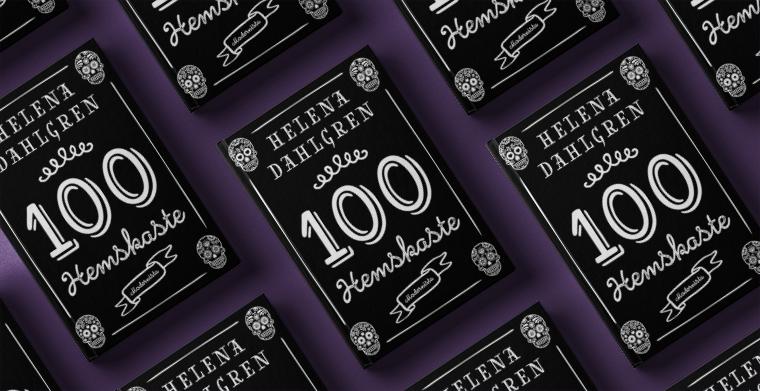 Omslag till 100 Hemskaste av Helena Dahlgren. Modernista.