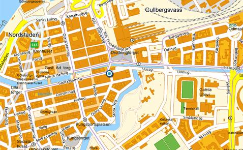 300m2 ligger här! Kartan kommer från hitta.se