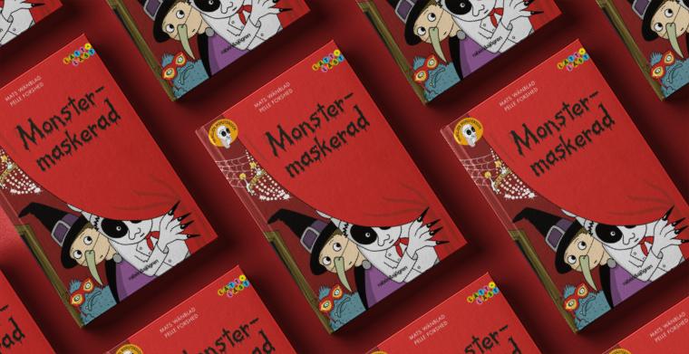 Omslag till Monstermaskerad av Mats Wänblad, Pelle Forshed.