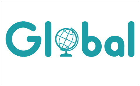 Logotyp för Stadsbiblioteket Global.