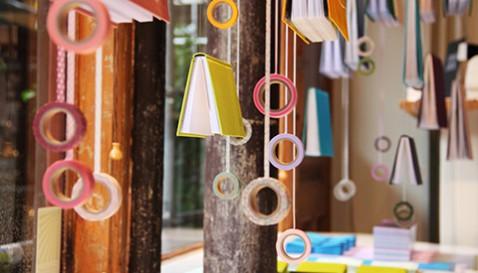 Rum för pappers skyltfönster