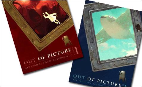 Detalj från Out of Picture, volume 1 och 2. Förlag: Villard Books.