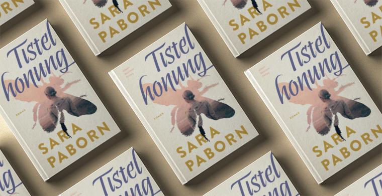 Omslag till Tistelhonung av Sara Paborn.