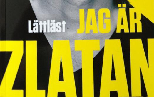"""Detalj ur omslaget till den lättlästa """"Jag är Zlatan"""". LL-förlaget."""
