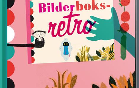 Detalj ur omslag Bilderboksretro, Norstedts förlag.