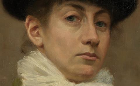 """Detalj ur omslaget till """"Eva Bonnier - ett konstnärsliv"""". Albert Bonniers förlag."""