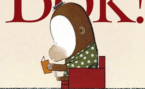 """Detalj ur omslaget till """"Det är en bok"""". Rabén & Sjögren förlag."""