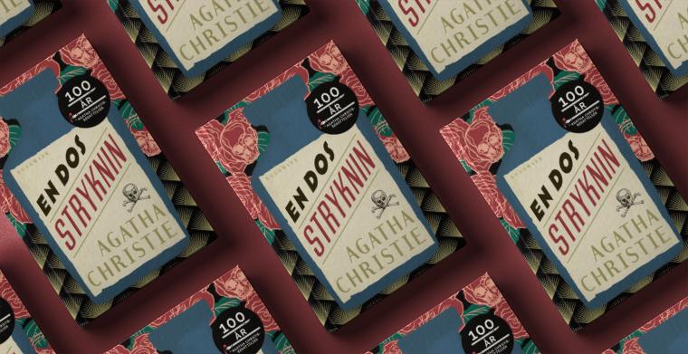 Omslag till En dos strykning av Agatha Christie. Bookmark förlag.en dos stryknin