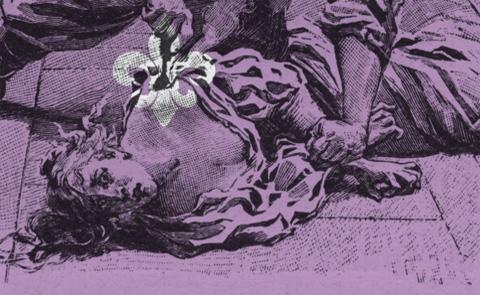 """Detalj ur omslaget till """"Förälskelser"""". Albert Bonniers förlag."""