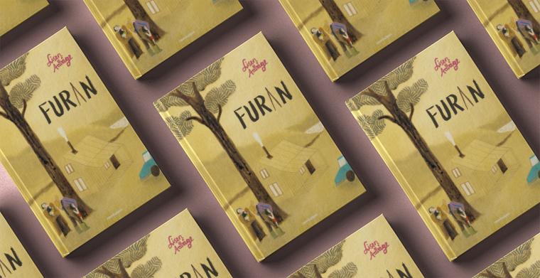 Omslag till Furan av Lisen Adbåge. Rabén & Sjögren.