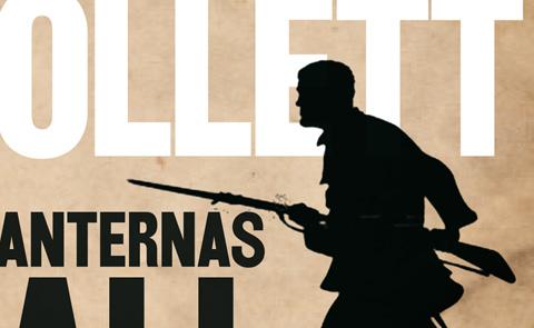"""Detalj ur omslaget till """"Giganternas fall"""". Bonniers förlag."""