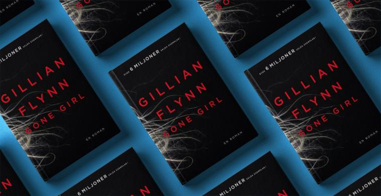 Omslag till Gone Girl av Gillian Flynn. Modernista.