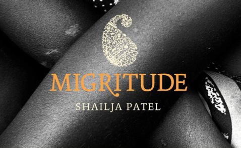 Detalj från omslag till Migritude av Shailja Patel.