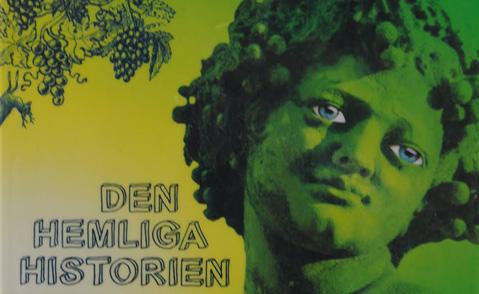 """Detalj ur omslaget till """"Den hemliga historien"""". Bonnier pocket förlag."""