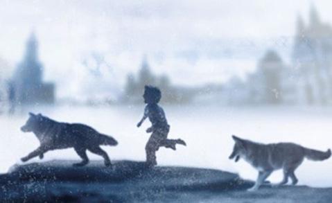 """Detalj ur omslaget till """"Hundpojken"""". Bonnier förlag."""