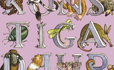 """Detalj ur omslaget till """"Konstiga djur"""". Bonnier Carlsen förlag."""