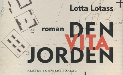 """Detalj ur omslaget till """"Den vita jorden"""". Albert Bonniers förlag."""