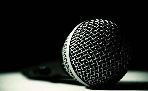 Mikrofon. Foto: Jean-Luc St-Hilaire