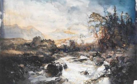 """Akvarell från """"Naturlära"""". Albert Bonniers förlag."""