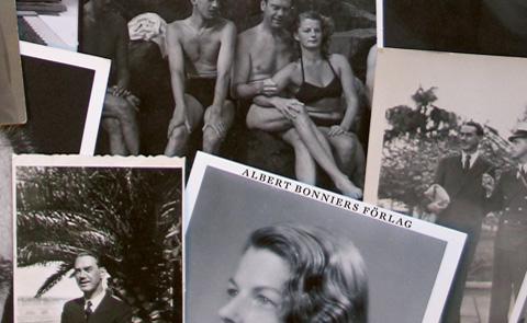 """Detalj ur omslaget till """"Maria och Artur: en nittonhundratalsroman"""". Albert Bonniers förlag."""