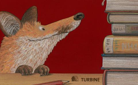 """Detalj ur omslaget till """"Pipliotek???"""". Turbine förlag."""
