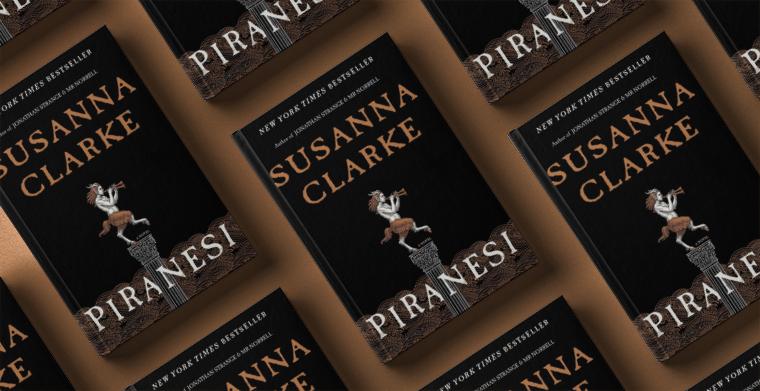 Omslag till Piranesi av Susanna Clarke. Bloomsbury publishing.