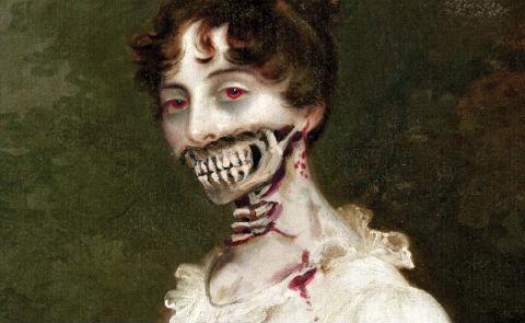 Detalj från omslaget till Pride and prejudice and zombies. Förlag: Quirk books