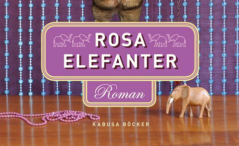 "Detalj ur omslaget till ""rosa elefanter"". Kabusa böcker."