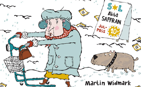 """Detalj ur omslaget till """"Saffransmysteriet"""". Bonnier Carlsen förlag."""