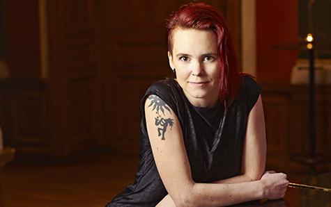 Sara Lövestam till Språkdagen. Foto: Peter Knutson