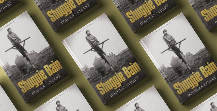 Omslag till Shuggie Bain av Douglas Stuart. Albert Bonniers förlag.