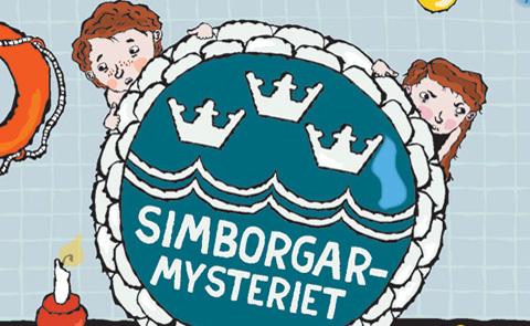 """Detalj ur omslaget till """"Simborgarmysteriet"""". Bonnier Carlsen förlag."""