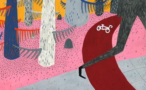"""Siri skyndar"". Illustration: Saga Bergebo."