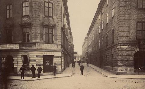 Smedjegatan 1888. Foto: Wilhelm Berg.