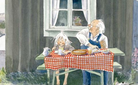 """Detalj ur omslaget till """"Stinas sommar"""" Rabén & Sjögren förlag."""