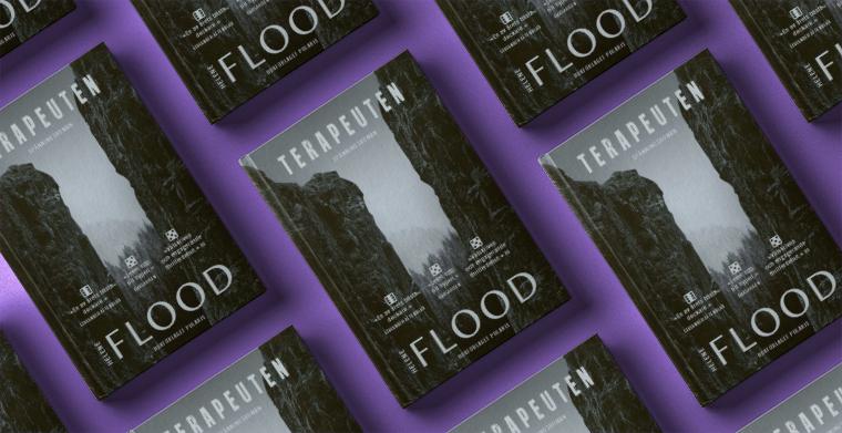 Omslag till Terapeuten av Helene Flood. Bokförlaget Polaris.