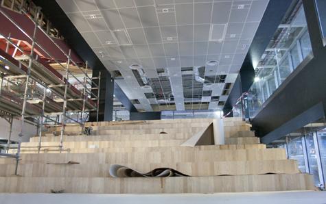 Nya trappan i Stadsbiblioteket! Foto: Lisa Nylén
