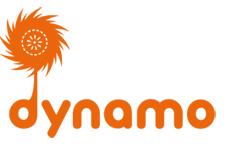 Logotyp för Stadsbiblioteket Dynamo.