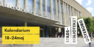 Stadsbiblioteket Göteborgs program 18-24 maj