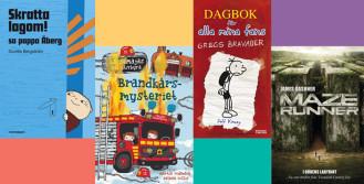 De mest utlånade barn- och ungdomsböckerna 2015