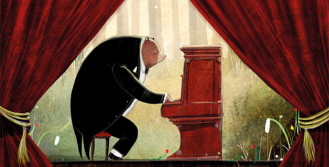 En musikalisk björn väljer sin livsväg